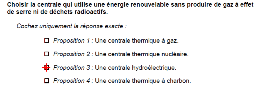 question 3 bac de sciences